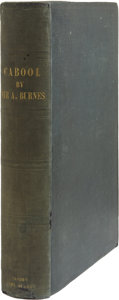 Books:First Editions, Alexander Burnes. Cabool: Being a Personal Narrative of aJourney to, and Residence in that City in the Years 1836, 7,a...