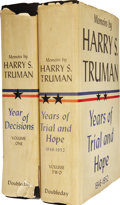Books:Signed Editions, Harry Truman. Memoirs by Harry S. Truman. Vol. 1 and 2.Garden City, NY: Doubleday & Company, 1955 and 1956.... (Total:2 Items)