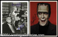 Autographs, The Munsters Signed Photo Lot