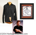 Autographs, Chuck Norris Black Shirt from Walker Texas Ranger
