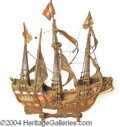 Autographs, Miniature Galleon from Mary Pickford Estate