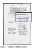 Autographs, Robert Redford Signed Document