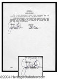 Autographs, Julia Roberts Rare Signed Document