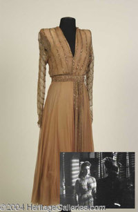 Ginger Rogers Dress from Major and the Minor - Ginger Rogers wore this beautifully delicate full-length evening gown in...