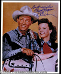 Autographs, Roy Rogers & Dale Evans Beautiful Signed Photo