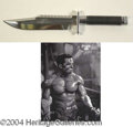 Autographs, Arnold Schwarzenegger Knife from Commando