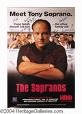 Autographs, Sopranos Cast Signed HBO Poster 18 Sigs!