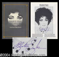 Autographs, Elizabeth Taylor Signed Play Program