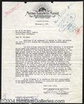 Autographs, Irving Thalberg Signed Document
