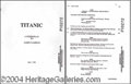 Autographs, Original Shooting Script from the Movie Titanic