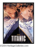 Autographs, Titanic Cast Signed World Premiere Movie Program