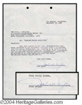 Autographs, John Wayne Signed Document