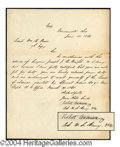 Autographs, Robert Anderson Civil War Dated Signed Letter