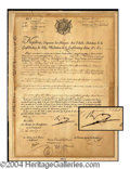 Autographs, Napoleon Bonaparte Signed Ships Passport Document