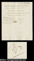 Autographs, Napoleon Bonaparte Rare Signed Document