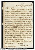 Autographs, William Cullen Bryant Handwritten Letter Signed
