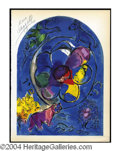 Autographs, Marc Chagall Signed Tribe Lithograph