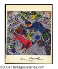 Autographs, Marc Chagall Signed Litho Print