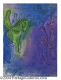 Autographs, Marc Chagall Signed & Dated Litho Print
