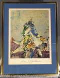Autographs, Marc Chagall Signed Color Lithograph