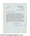 Autographs, Agatha Christie Revealing Typed Letter Signed