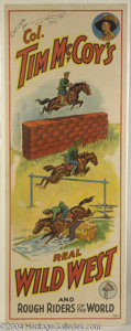 Autographs, Tim McCoy Vintage Signed Circus Poster