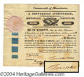 Autographs, Henry Dearborn Signed Stock Certificate