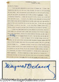 Autographs, Margaret Deland Typed Letter Signed