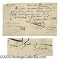 Autographs, Joseph-Marie Dessaix Signed Document