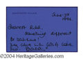 Autographs, Princess Diana Handwritten Signed Note