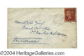 Autographs, Charles Dickens Signed Envelope Panel