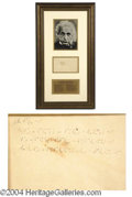 Autographs, Albert Einstein Handwritten Theory of Relativity