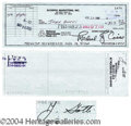 Autographs, John Gotti Teflon Don Rare Signed Bank Check
