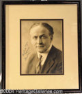 Autographs, Houdini Signed Framed Photo