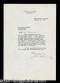 Autographs, Joseph Kennedy Typed Letter Signed