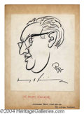 Autographs, Henry Kissinger Signed Oscar Berger Sketch