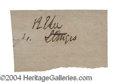 Autographs, Robert E. Lee Civil War Ink Signature