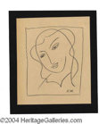 Autographs, Henri Matisse Signed Original Artwork