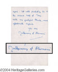 Autographs, Montgomery of Alamein ALS Signed Letter