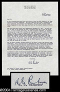 Autographs, Hyman G. Rickover Typed Letter Signed