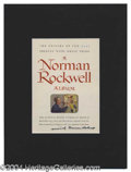 Autographs, Norman Rockwell Signed Color Display