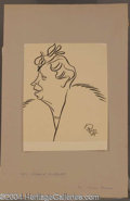 Autographs, Eleanor Roosevelt Original Oscar Berger Sketch