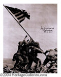 Autographs, Joe Rosenthal Iwo Jima Impressive Signed Photo