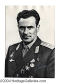 Autographs, German Titov Large Signed Photograph