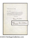 Autographs, Thomas A. Watson Telephone Pioneer Typed Letter Signed