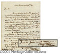 Autographs, Benjamin West Handwritten Signed Letter