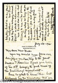 Autographs, Edith Bolling Wilson ALS Letter Signed