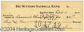 Autographs, Lorin Wright (Wright Brothers) Signed Bank Check
