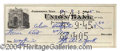 Autographs, Sgt. Alvin York WWI Signed Bank Check