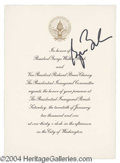 Autographs, George W. Bush Signed Inaugural Invitation